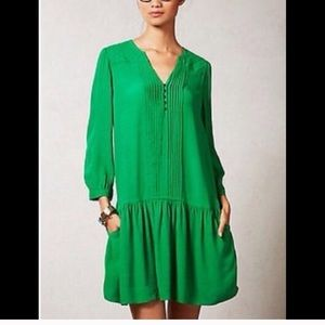 Anthropologie mauve green dress